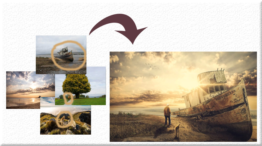 دمو 1 خلق تصاویر ترکیبی پیشرفته و Photo Manipulation در فتوشاپ